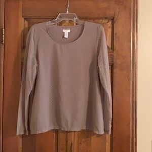 Chico's dotted Swiss long sleeve pull over